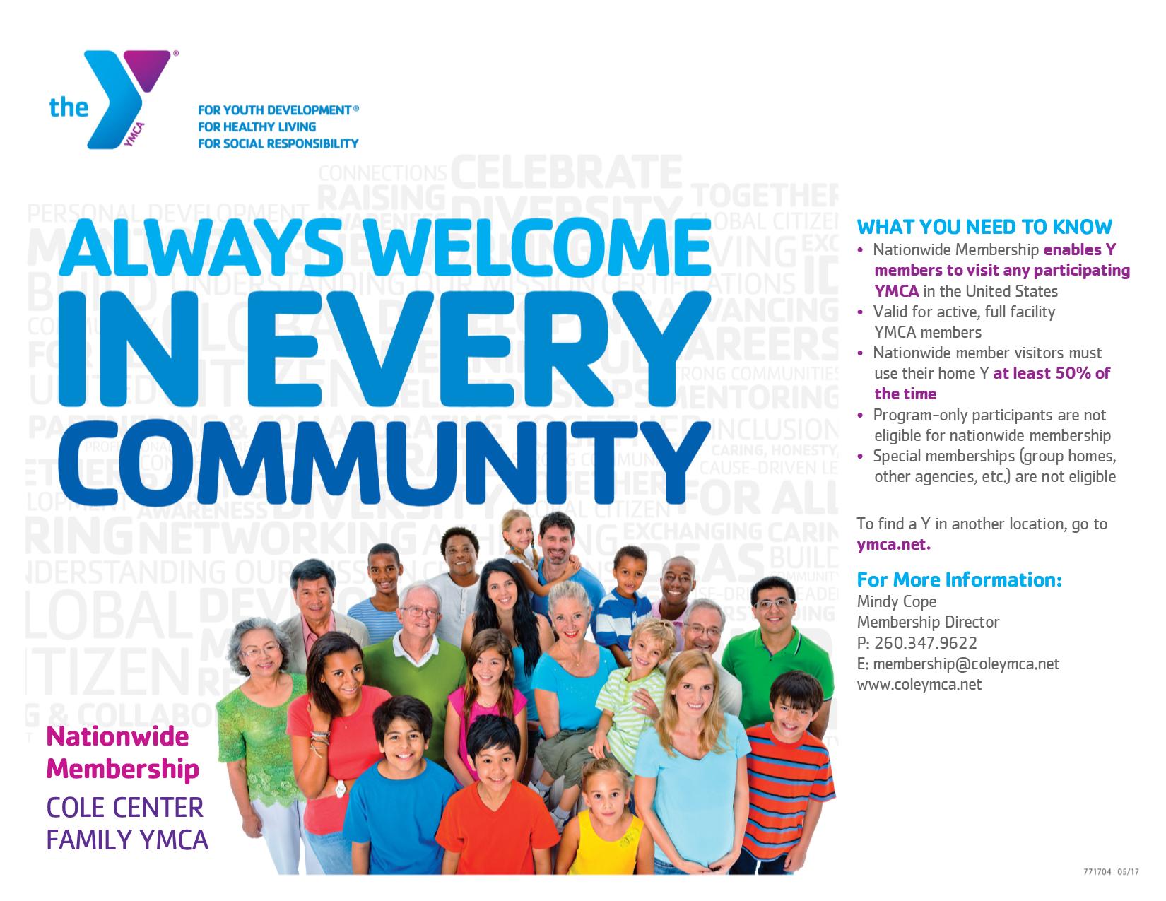 Cole Center Family YMCA Membership